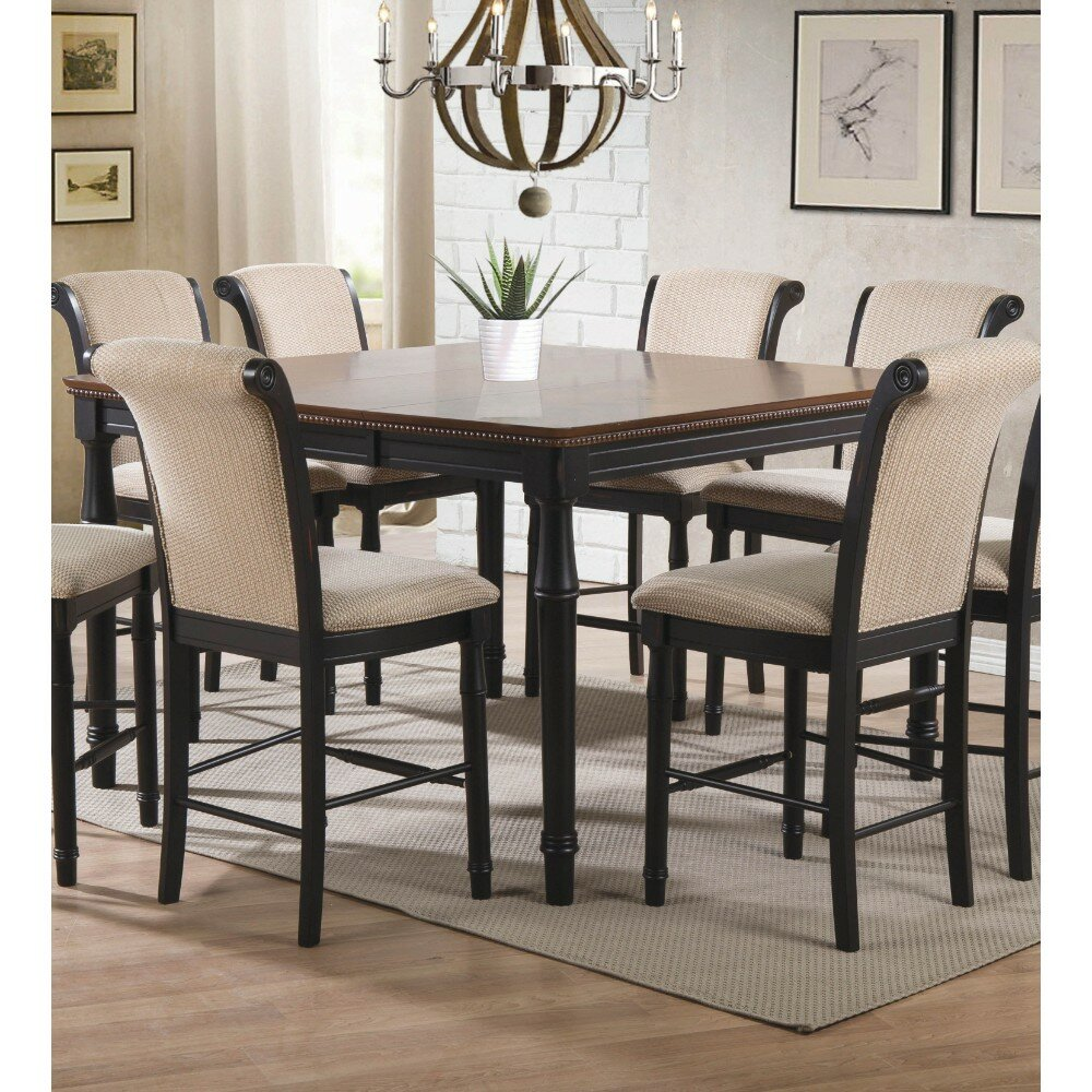 Gracie oaks spellman sturdy counter height solid wood dining table wayfair