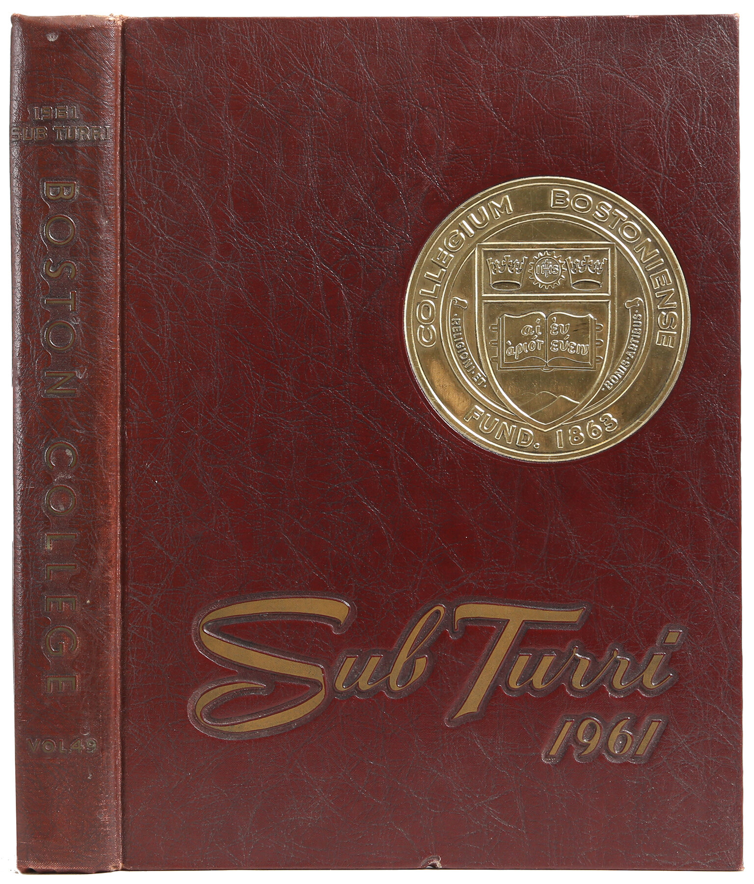 Booth Williams Sub Turri Of Boston College Yearbook 1961 Authentic Decorative Book Wayfair
