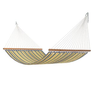 Rosamond Large Blue and Yellow Stripe Quilted Hammock