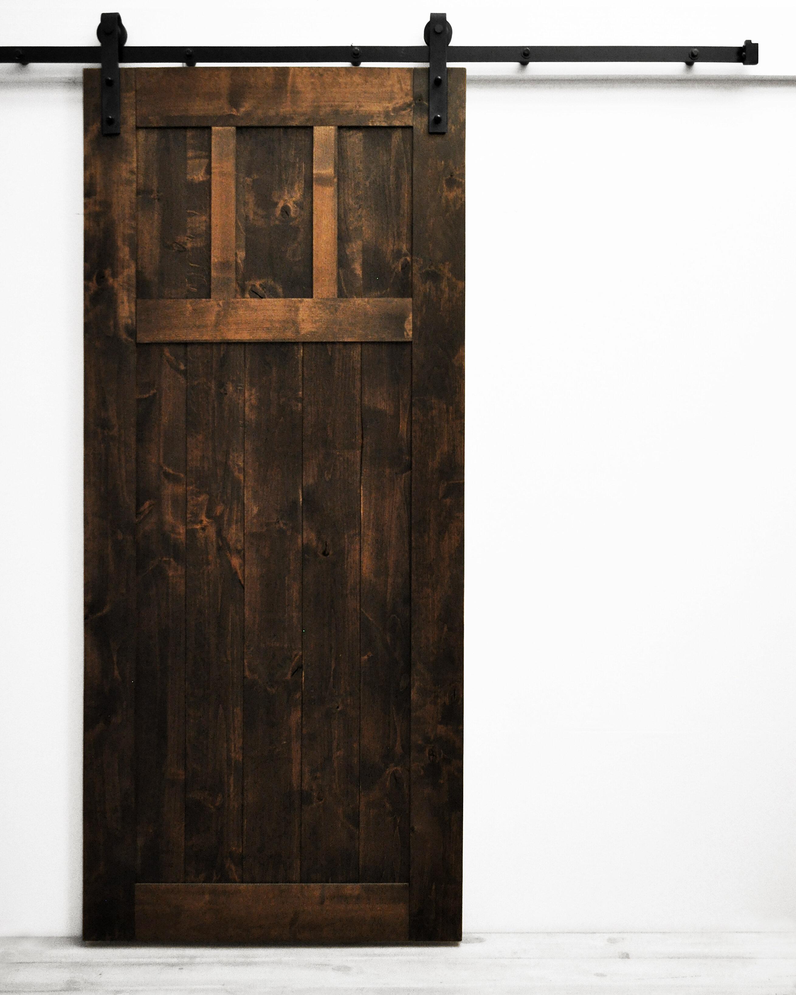Dogberry Collections Craftsman Solid Wood Room Dividers Knotty Alder Slab Interior Barn Door Wayfair