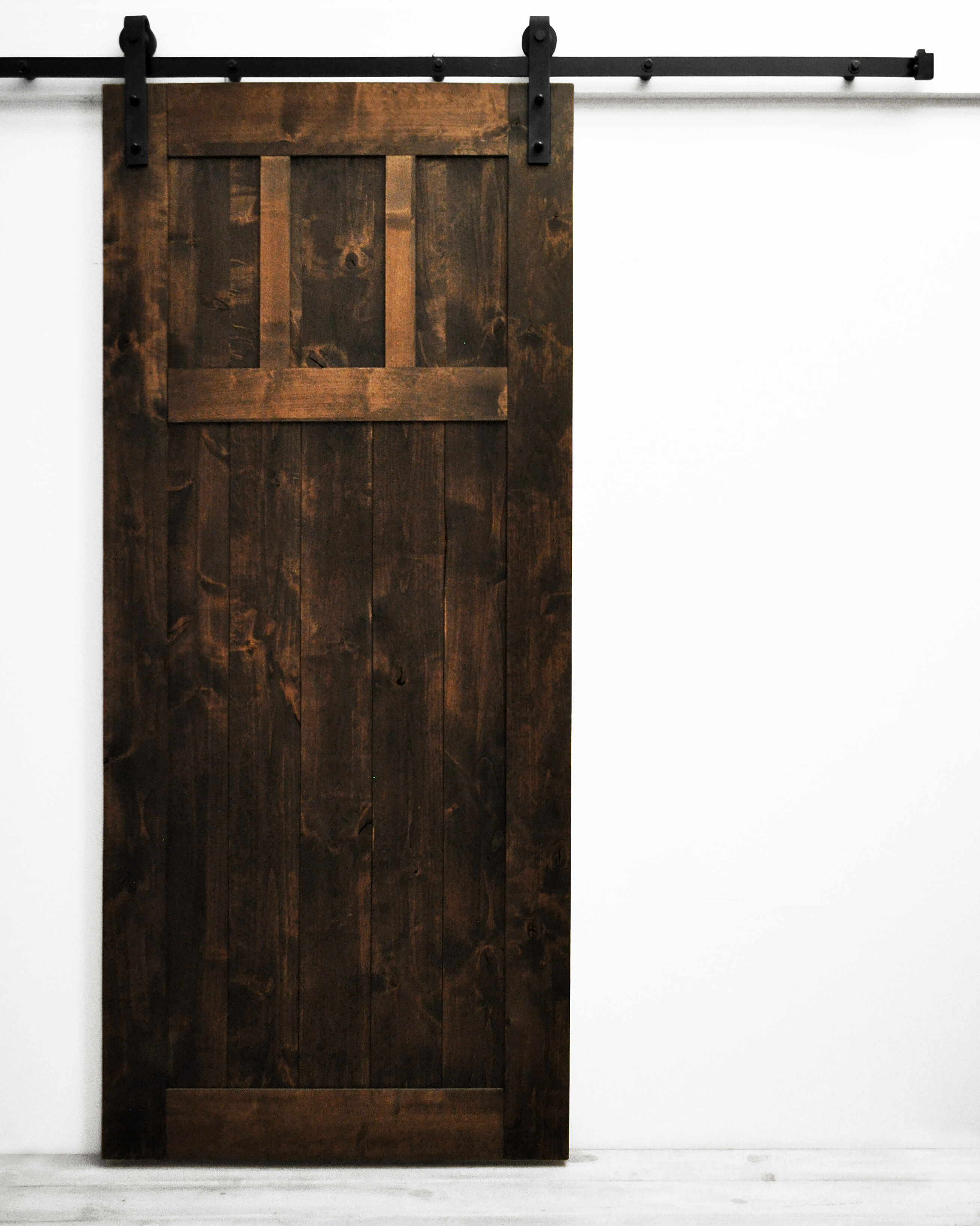 Dogberry Collections Paneled Wood Finish Room Dividers Knotty Alder Barn Door With Installation Hardware Kit Wayfair