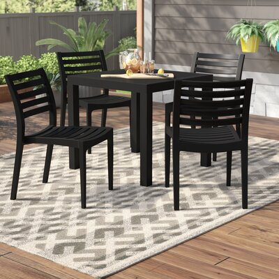 Melissus 5 Piece Dining Set by Mercury Row Modern