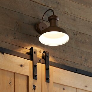 Great Price Vallie 1-Light Outdoor Barn Light By Laurel Foundry Modern Farmhouse