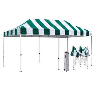 Premium 10 Ft. W x 20 Ft. D Metal Pop-Up Party Tent by Eurmax