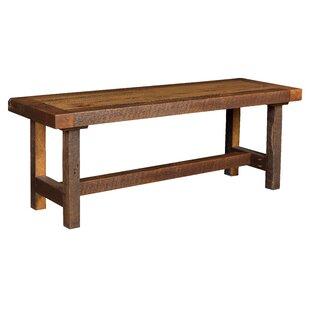 Rabon Wood Bench by Loon Peak