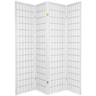 Find for Marissa Shoji 4 Panel Room Divider By World Menagerie