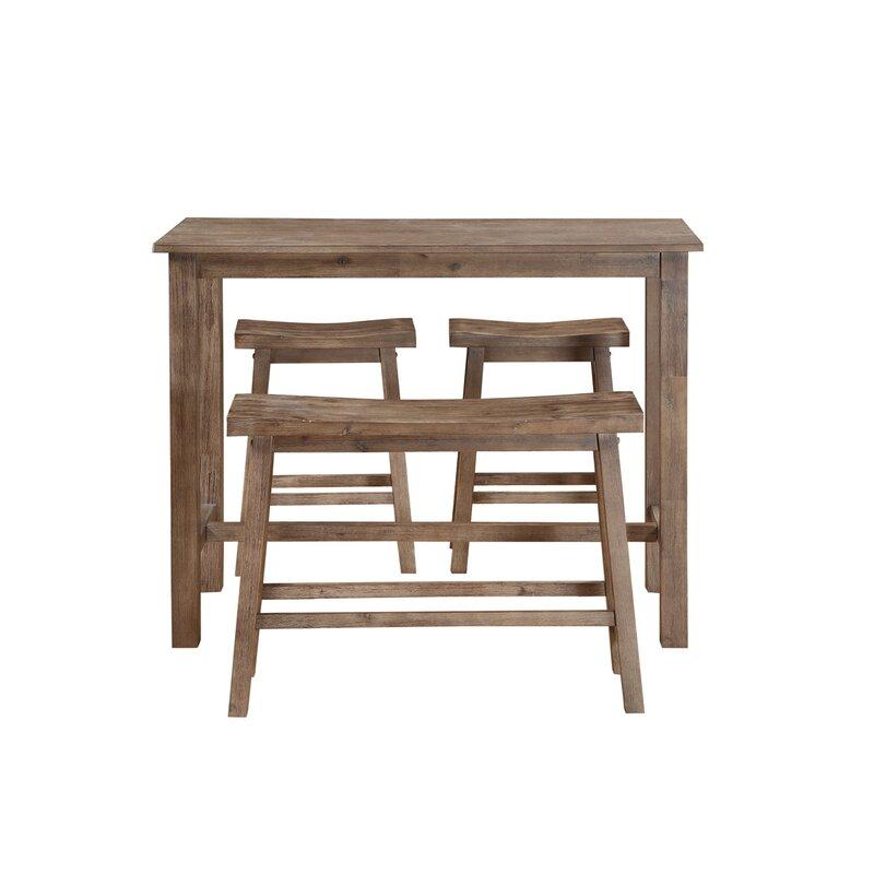 Amazing Raymundo 4 Piece Pub Table Set Interior Design Ideas Clesiryabchikinfo