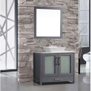 Tahiti 36 Single Modern Bathroom Vanity Set with Mirror by MTD Vanities