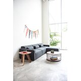 Mix Modular Right Hand Facing Sectional with Ottoman by Gus* Modern