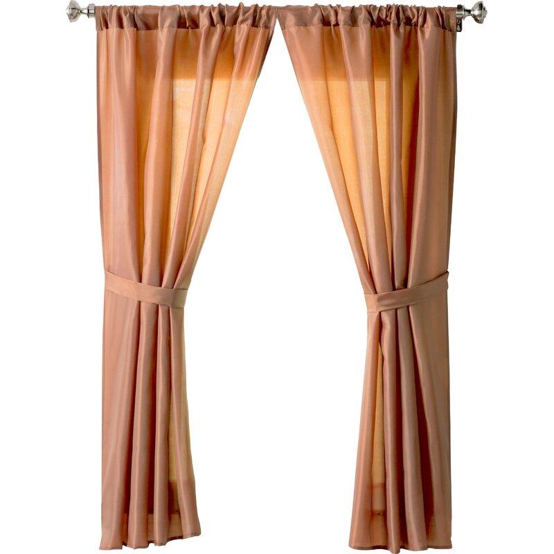 Wayfair Basics Solid Sheer Rod Pocket Bathroom Curtain Panels