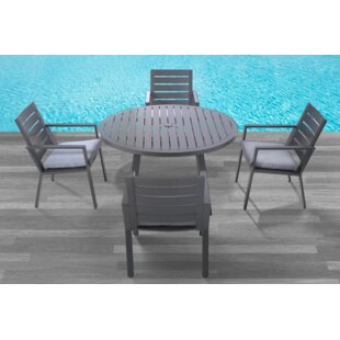 Williston Forge Moralez 5 Piece Dining Set with Cushions
