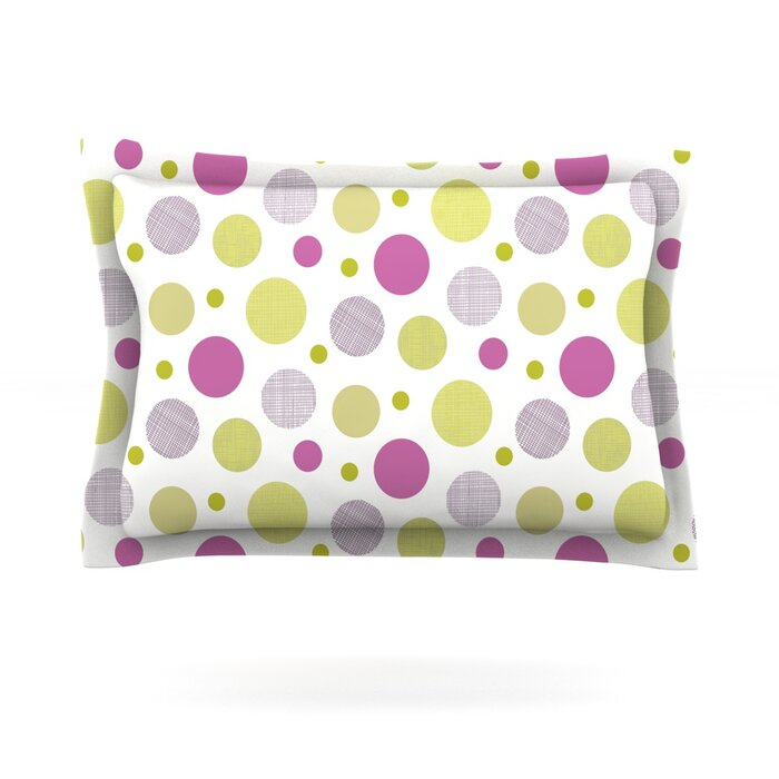 Kess InHouse CarolLynn TICE Fancy Pink Yellow Round Floor Pillow 26