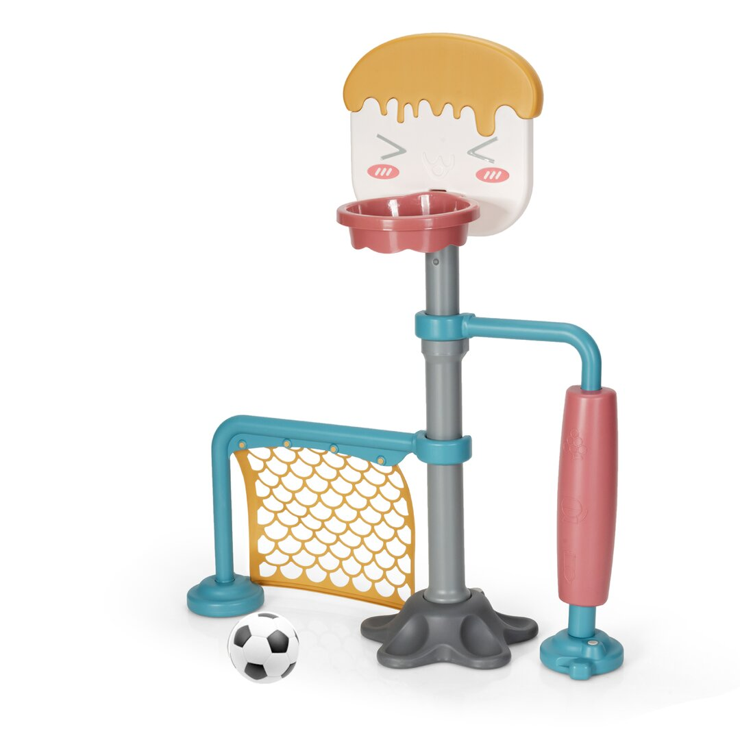 Collado 3 in 1 Basketball Stand with Football Goal and