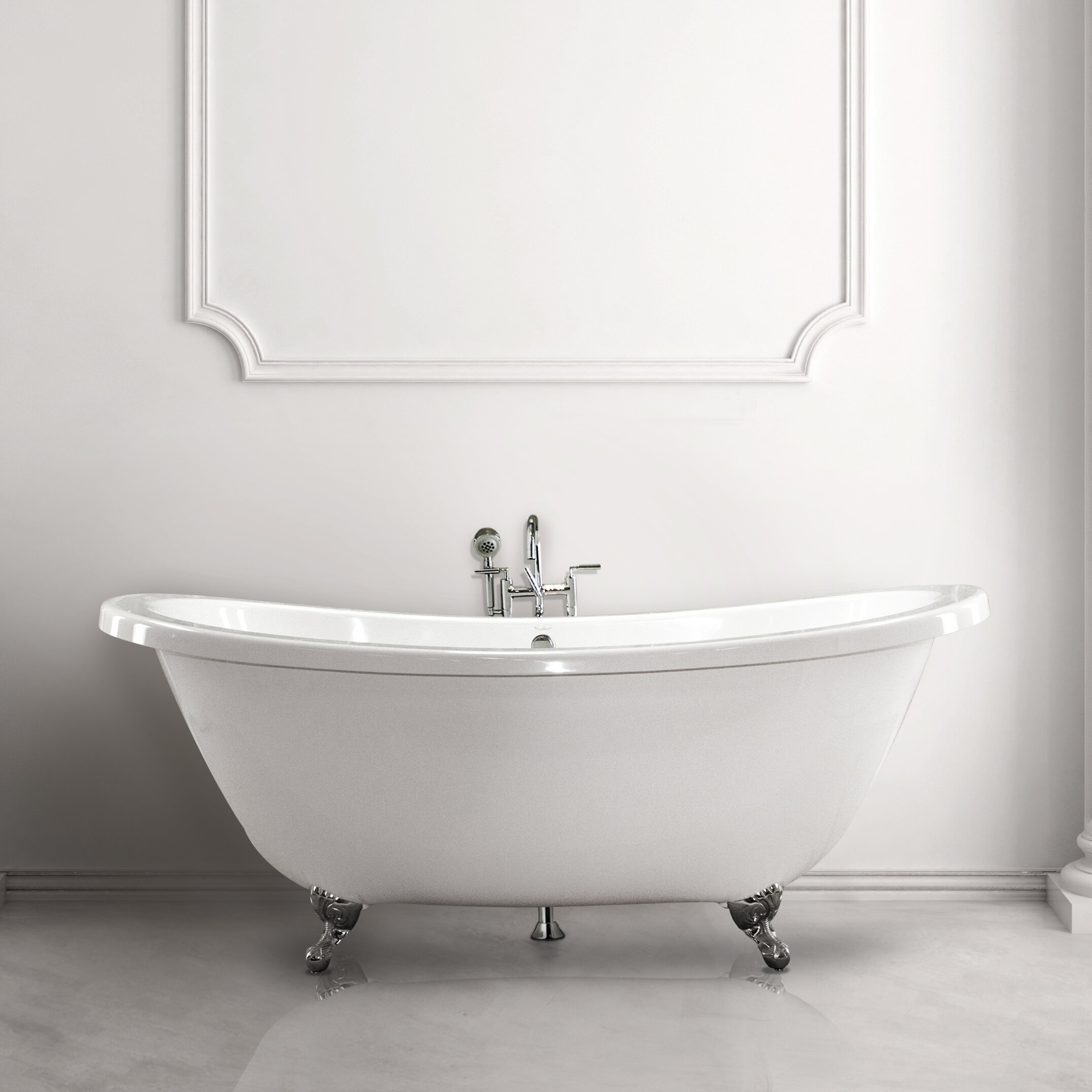 Andrea 72 X 38 Freestanding Soaking Bathtub