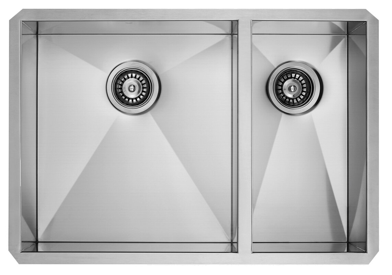 29 Inch Undermount 70/30 Double Bowl 16 Gauge Stainless Steel Kitchen Sink
