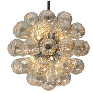 Viz Glass 11-Light Sputnik Chandelier