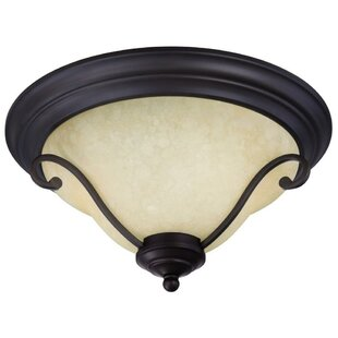 Reviews Temples 2-Light Flush Mount By Three Posts