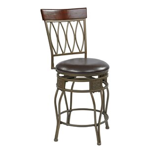 Hanaford 24 Swivel Bar Stool Alcott Hill
