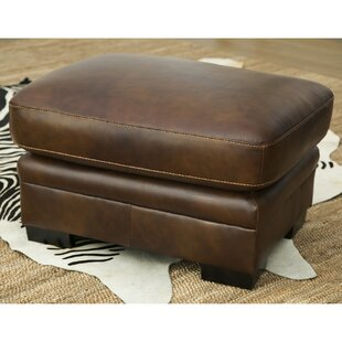 Knuth Leather Ottoman by Red Barrel Studio