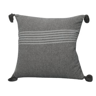 Toph Heathered Throw Pillow by Bungalow Rose Bargain