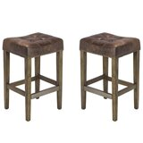 Vanmatre 27'' Bar Stool (Set of 2) by Canora Grey