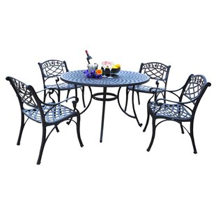Darby Home Co Lomax 5 Piece Outdoor Dining Set