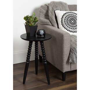 Martha Solid Wood Bobbin Leg End Table by Bungalow Rose