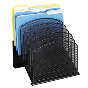 Safco Products Company Mesh Desk Organizer, Eight Sections, 11.25