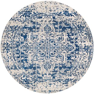 Hillsby Dark Blue Area Rug by Mistana