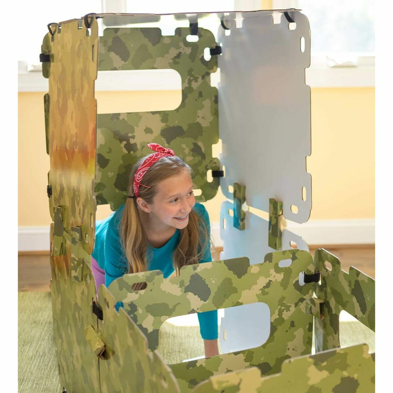 Hearthsong Fantasy Fort 1 8 X 1 8 Indoor Cardboard Diy Playhouse Kit Wayfair