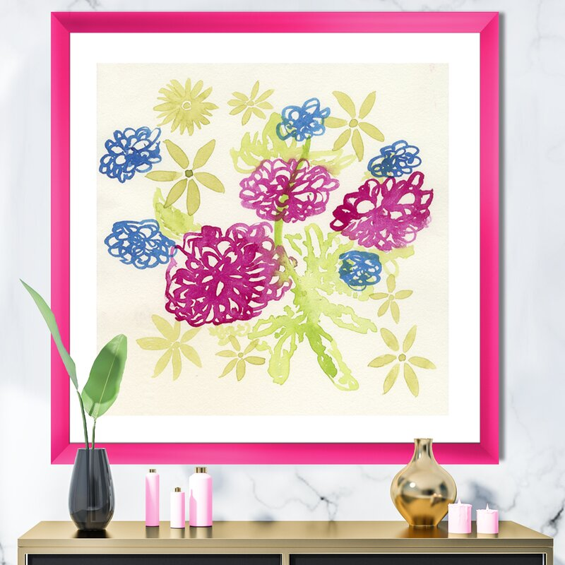 Blue Dahlia Floral Flower CANVAS Wall Art Picture ANY SIZE