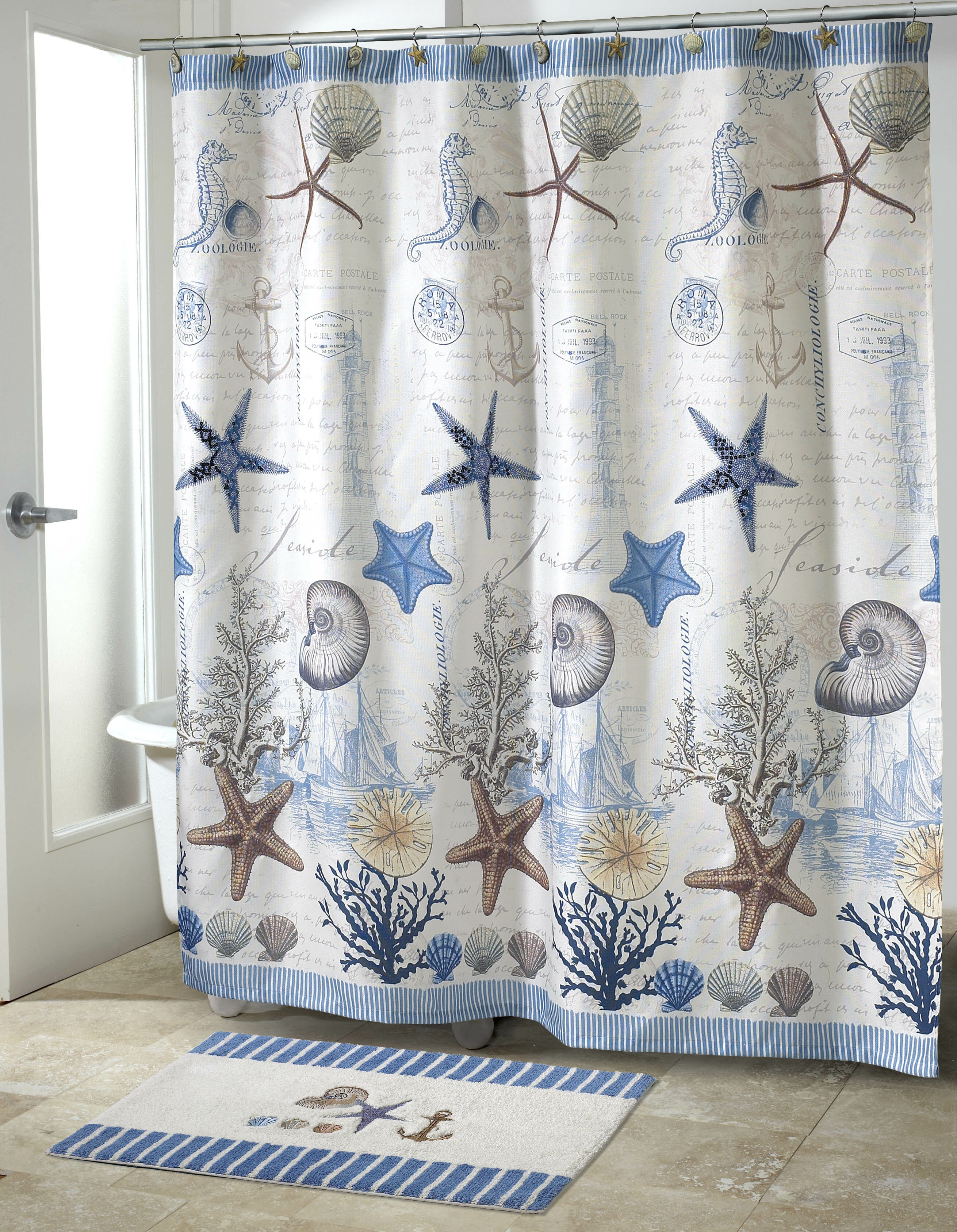 Avanti Linens Antigua Single Shower Curtain Reviews Wayfair