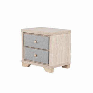 Review Aker 2 Drawer Bedside Table