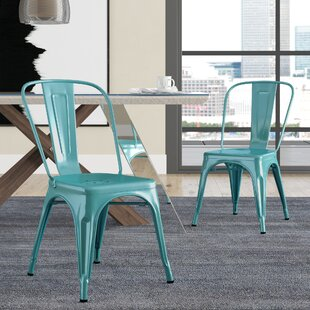 Hannum Stackable Industrial Chic Dining Chair (Set of 2) by Brayden Studio