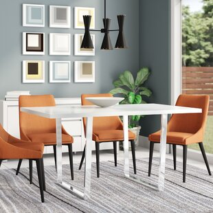 Dacian Metal Dining Table Latitude Run