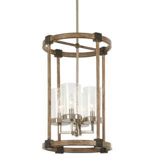 Union Rustic Lister 4-Light Cylinder Pendant