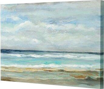 Three Posts 'Seashore' Print Size: 10 H x 15 W x 0.75 D, Format: Canvas