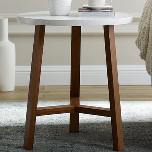 Searching for Lucian Round End Table By Ebern Designs