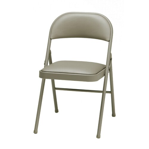 Brilliant Deluxe Vinyl Padded Folding Chair Theyellowbook Wood Chair Design Ideas Theyellowbookinfo