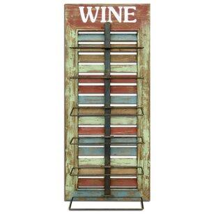 Vintage Window Shutter Wall Mounted Wine Bottle Rack