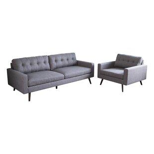Bakken 2 Piece Living Room Set by George Oliver