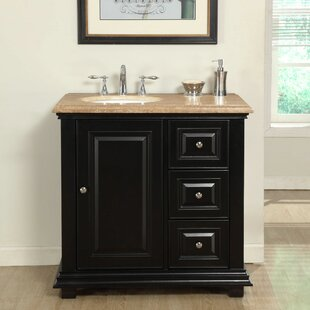 Check Prices Hayle 36 Single Sink Bathroom Vanity Set with Sink on Left By Fleur De Lis Living