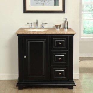 Check Prices Hayle 36 Single Sink Bathroom Vanity Set with Sink on Left ByFleur De Lis Living