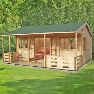 Mapleton 20 X 18 Ft. Tongue And Groove Log Cabin Image