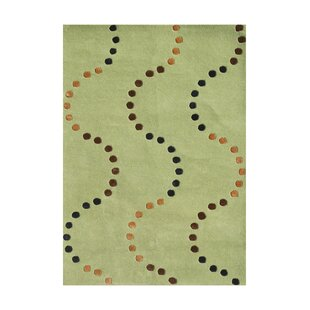 Great Price De Anza Hand-Tufted Green Area Rug By The Conestoga Trading Co.