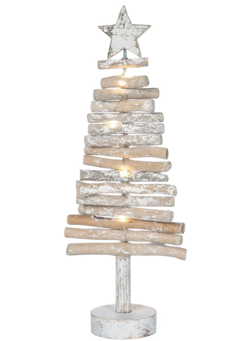 The Holiday Aisle Driftwood Light-up Tree & Reviews | Wayfair