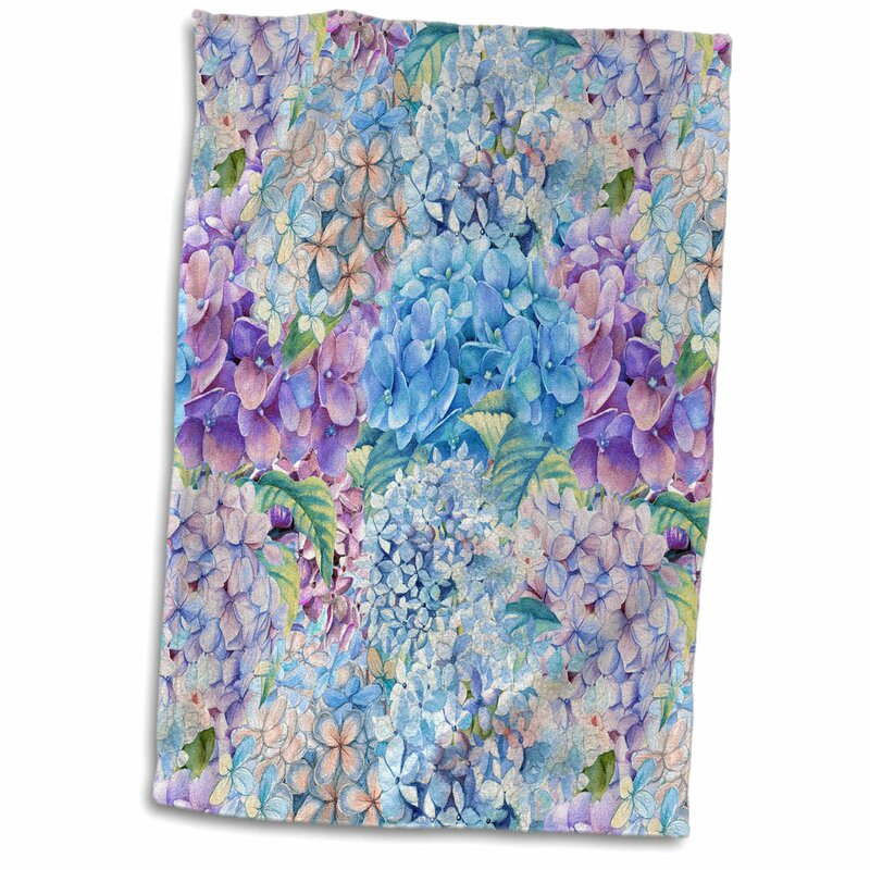 East Urban Home Lorena Victorian Hydrangea Flower Watercolor Summer Hand Towel Wayfair