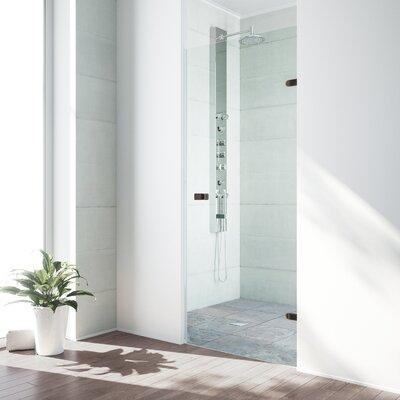 VIGO Tempo 28.5 x 70.63 Hinged Frameless Shower Door
