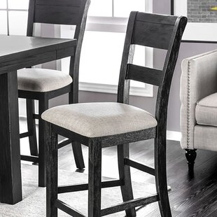 Gracie Oaks Zelma Solid Wood Dining Chair (Set of 2)