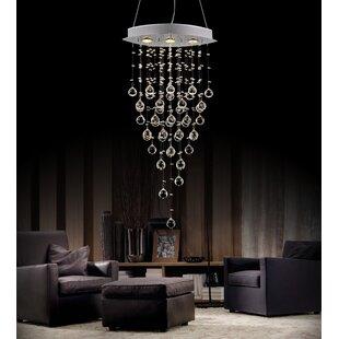 CWI Lighting Robin 3-Light Crystal Chandelier